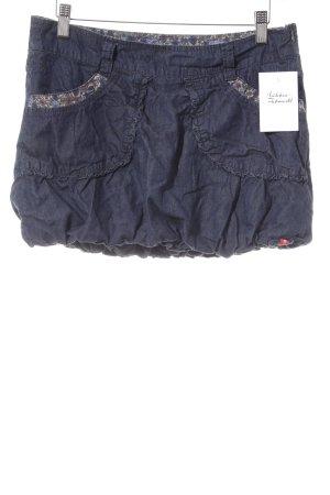 edc Ballonrock dunkelblau Jeans-Optik