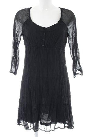 edc Blusenkleid schwarz extravaganter Stil