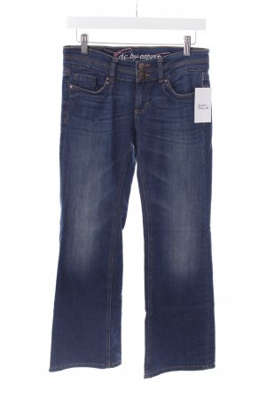 Edc Boot Cut Jeans dunkelblau Jeans-Optik