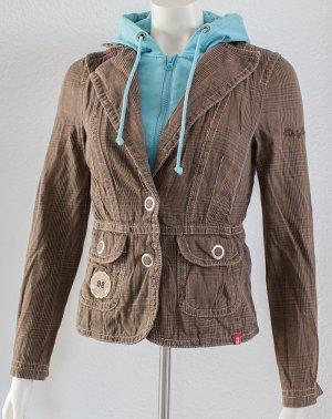 Esprit Veste mi-saison brun-turquoise coton