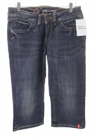 edc by Esprit 3/4 Jeans blau Washed-Optik