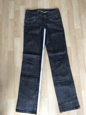 edc by Esprit Low Rise jeans antraciet Katoen