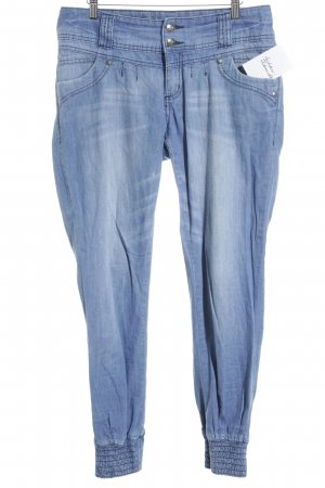 edc by Esprit Jeans larghi bianco-blu fiordaliso puntinato stile casual
