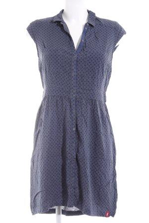 edc by Esprit Blusenkleid dunkelblau-graubraun grafisches Muster Casual-Look