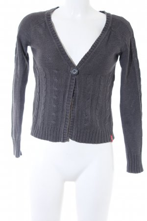 edc by Esprit Cardigan dunkelgrau Zopfmuster Casual-Look