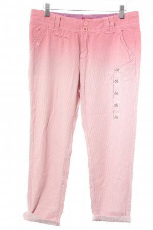 edc by Esprit Chinohose wollweiß-rosa Farbverlauf Casual-Look