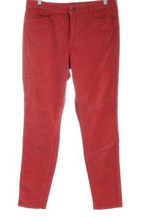 edc by Esprit Pantalone di velluto a coste rosso stile casual