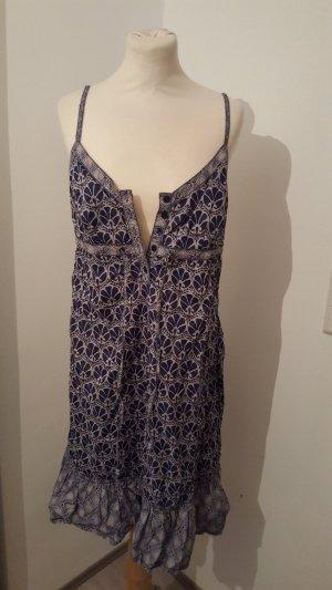 EDC by Esprit Damen Freizeit Kleid Spaghettiträger Sommerkleid Größe 40 gemustert