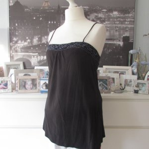 EDC by Esprit * Edles Party Top * schwarz Stift-Pailletten+Perlen * XL=40/42