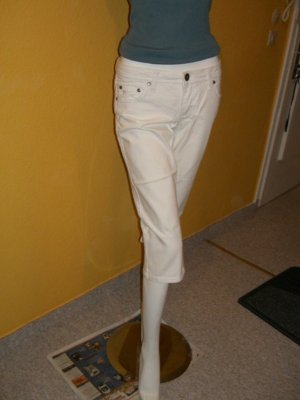 Esprit Capris white cotton