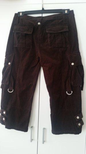 esprit collection Pantalon en velours côtelé brun foncé