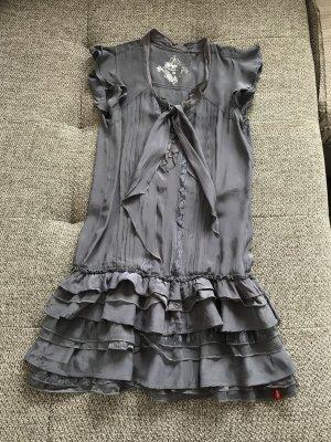 edc by Esprit graulila Minikleid Rüschen Kleid 32 XS