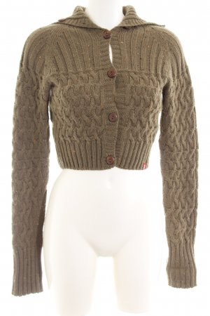 edc by Esprit Coarse Knitted Jacket khaki allover print casual look