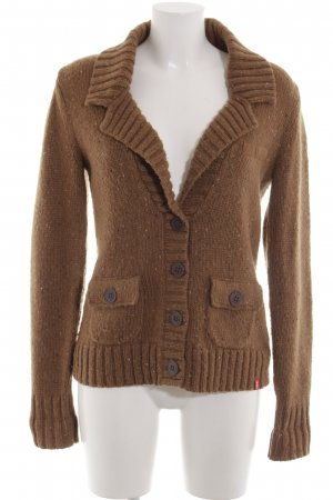 edc by Esprit Coarse Knitted Jacket brown casual look