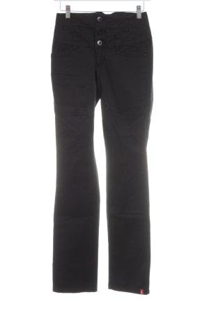 edc by Esprit Hoge taille broek zwart casual uitstraling