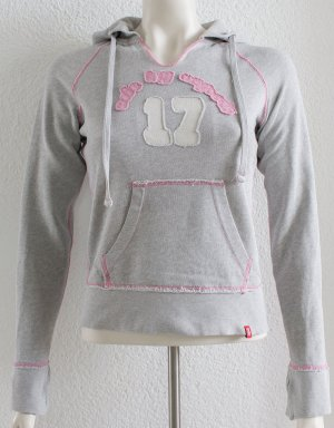 edc by Esprit Hooded Sweatshirt light grey-pink