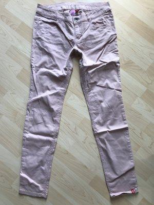 Edc Esprit pantalón de cintura baja rosa claro