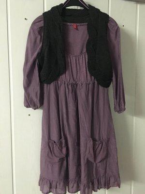 edc by Esprit hübsches Satin-Kleid, Set