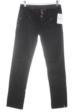 """edc by Esprit Low Rise jeans """"Five"""" zwart"""