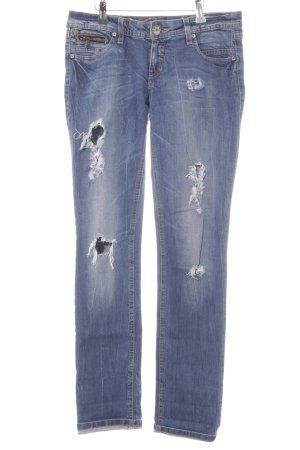 edc by Esprit Low Rise jeans staalblauw kleurverloop Jeans-look