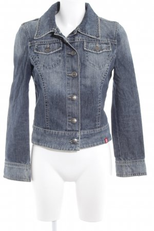 edc by Esprit Jeansjacke mehrfarbig Washed-Optik