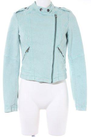 edc by Esprit Veste en jean turquoise Look de motard
