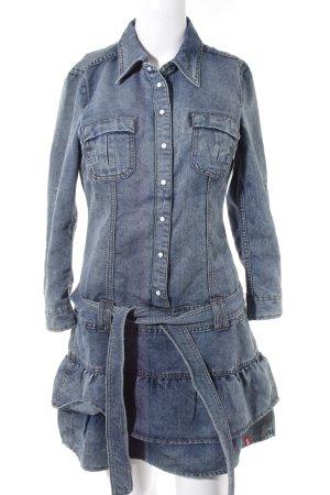 edc by Esprit Robe en jean bleu acier style décontracté