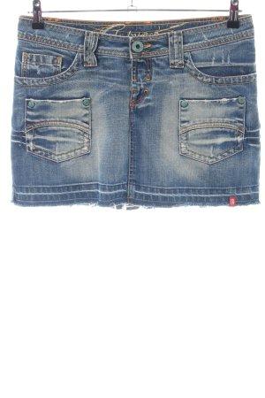 edc by Esprit Jupe en jeans bleu style décontracté