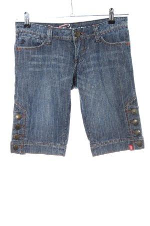 edc by Esprit Pantaloncino di jeans blu motivo a righe stile casual