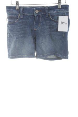 edc by Esprit Spijkershort staalblauw Jeans-look