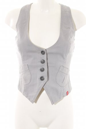 edc by Esprit Gilet en jean gris clair style simple