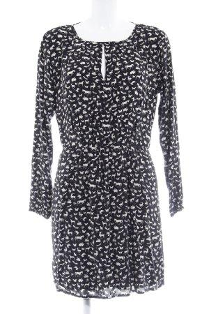 edc by Esprit Vestido de tela de jersey negro-crema look casual