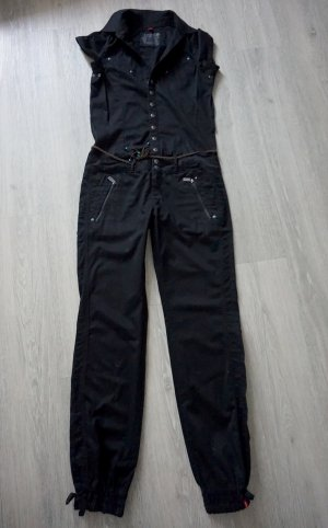 Edc by Esprit Jumpsuit Denim Jeans schwarz Overall boho Gr.38 tall (S)