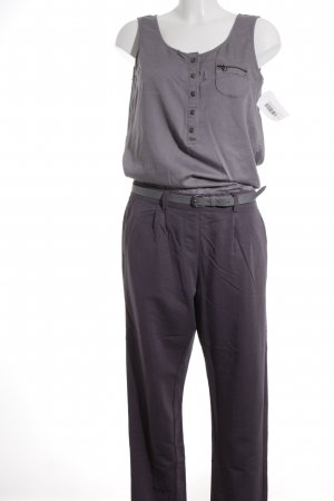 edc by Esprit Jumpsuit dunkelgrau-grau Business-Look