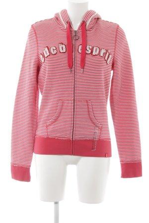 edc by Esprit Kapuzenpullover rot-weiß Streifenmuster schlichter Stil