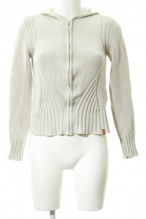 edc by Esprit Hooded Sweatshirt cream cable stitch casual look