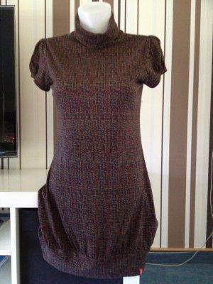 Esprit Vestido estilo camisa marrón-negro