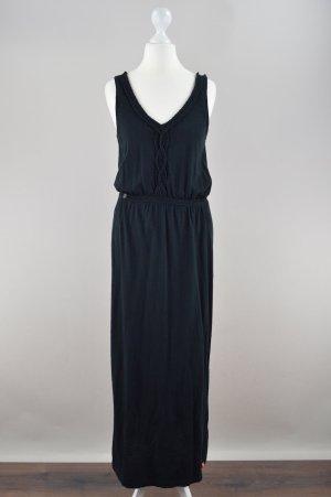 Edc by Esprit Kleid Maxikleid schwarz Größe S