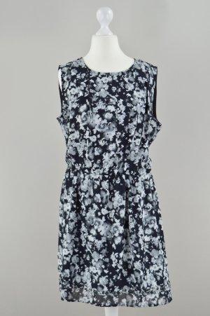 Edc by Esprit Kleid mit Blumenmuster schwarz Größe 36