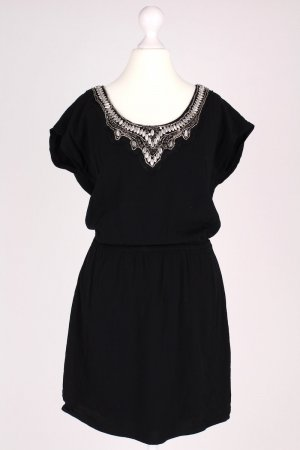 Edc by Esprit Kleid mit Perlen schwarz Größe 36