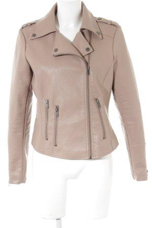 edc by Esprit Faux Leather Jacket dusky pink biker look