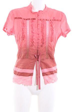 edc by Esprit Kurzarm-Bluse pink-rot Farbverlauf Elegant