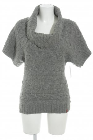 edc by Esprit Short Sleeve Sweater light grey cable stitch casual look