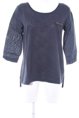 edc by Esprit Langarm-Bluse dunkelblau abstrakter Druck Casual-Look