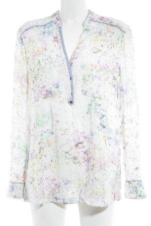 edc by Esprit Langarm-Bluse florales Muster Romantik-Look