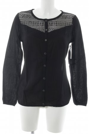 edc by Esprit Langarm-Bluse schwarz Casual-Look