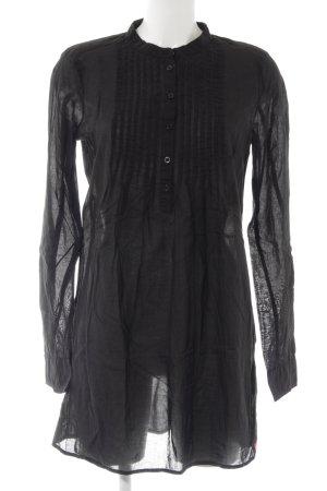 edc by Esprit Langarm-Bluse schwarz minimalistischer Stil