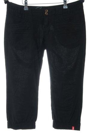 edc by Esprit Linnen broek zwart casual uitstraling