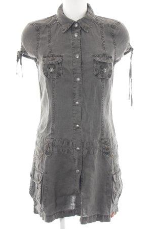 edc by Esprit Minikleid hellgrau Jeans-Optik