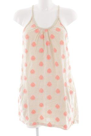 edc by Esprit Minikleid creme-neonpink Blumenmuster Casual-Look